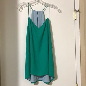 Express mint green tank/camisole.